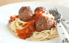 Healthy Food Recipes from Whole Foods // Beef and Quinoa Meatballs // Get your whole grains and veggies into crowd-pleasing meatballs with this easy healthy recipe for dinner that will stretch your food dollar, too.
