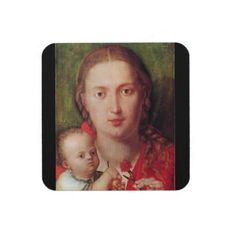 Albrecht Durer - Mary with the carnation Coasters