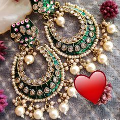 🌟 To buy this dm or whatsapp Indian Earrings, Chokers, Bangles, Colours, Bag, Accessories, Instagram, Stuff To Buy, Jewelry