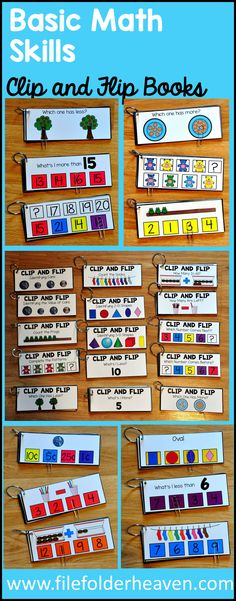 The Hands-On Math Clip and Flip Books Bundle is packed full of math clip and…