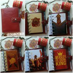 Harry Potter themed planners (lots of pics and themes) | Harry Potter | Gryffindor | Quidditch | Filofax | Planner | Organizer | Inspiration | Ideas