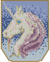 Fantastic Unicorn (WORD CHART) by Charlotte Holley - Beaded Legends by Chalaedra