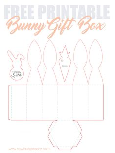 FREE PRINTABLE Easter Bunny Ear favour box to make at home or at school for friends or relatives. Cute hexagon design for table settings & gift giving. bunny printable templates rabbit FREE Bunny Ears gift box Printable for Easter Small Gift Boxes, Small Gifts, Easter Gift, Easter Crafts, Easter Basket Template, Celebration Box, Bunny Templates, Easter Templates, Easter Bunny Ears