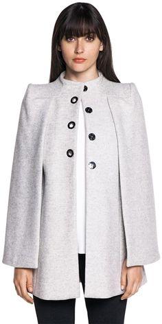 New Arrivals  | Wool Melange Cape Jacket