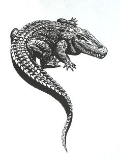 Alligator Tattoo sketch Design                                                                                                                                                                                 More