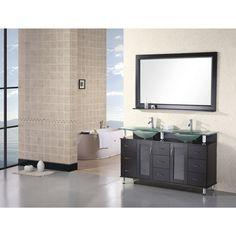 Annabelle 40 Inch Modern Bathroom Vanity Espresso Finish arcom 39 inch grey oak bathroom vanity cabinet with fitted sink