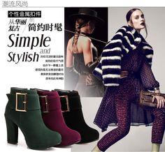 Большой размер 34 43 осень зима ботильоны на каблуках мода женская обувь высокие каблуки замшевые сапоги на платформе для женщин женская обувь купить на AliExpress