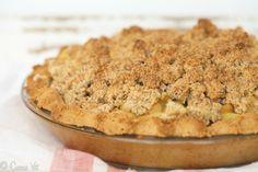 Apple Pie (Grain-Free, Paleo, Gluten Free) - almond flour,coconut flour, gelatin, egg yolk, butter