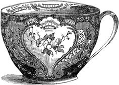 Pics For > Victorian Tea Cup Drawing