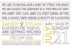 Wedding Reception Invitation by WhiteRabbitPrint on Etsy, $30.00