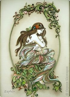 Picture, pictures, graphic Quilling: TENDERNESS paper strips on March 8, Mother's Day.  Photo 2