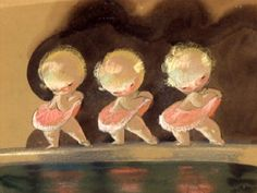 """Baby Ballet"", main designer Sylvia Moberly-Holland, with assistance by Mary Blair. Concept art for Disney"