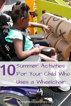 summer activities for a special needs child in a wheelchair