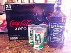 Jack aand Coke Slushies  it starts with 2 cans of Coke (Zero), 6 oz. frozen limeade concentrate, and 6 oz. of Jack Daniels.  Mix them together, put it in the freezer.  Stir occasionally and serve slushie.