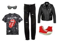 A menswear look from February 2017 featuring mens roll up sleeve shirts, mens torn jeans and mens real leather jackets. Browse and shop related looks. Roll Up Sleeves, Shirt Sleeves, Torn Jeans, Rock N Roll, Yves Saint Laurent, Men's Fashion, Menswear, Leather Jacket, Faith
