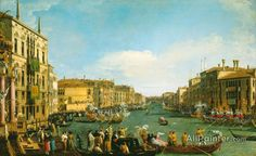 Giovanni Antonio Canal (called Canaletto),Venice:  A Regatta On The Grand Canal oil painting reproductions for sale
