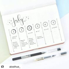 "1,900 Likes, 9 Comments - Bullet Journal Inspire  (@bujoinspire) on Instagram: ""#Repost @alosthue_ (@get_repost) ・・・ This week's spread! I used the daily circles from last week…"""