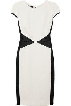 Narciso Rodriguez | Paneled silk-satin and crepe dress | NET-A-PORTER.COM