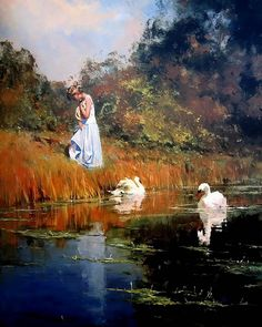 oil paintings by Robert Hagan, impressionism art