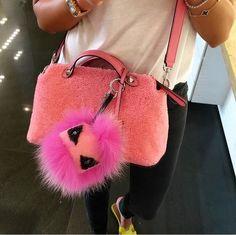 Fendi Monster Bag Charm ~  my  closet  diaries Fendi Bag Bugs, Fendi Bags, Fendi  Monster 173622b2db
