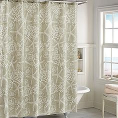 Sandy Bay Shower Curtain In Ivory ($29.99)