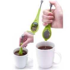 Total Tea Infuser  Get the most benefits and the most flavors from your freshly brewed tea with this total tea infuser. Its plunger design works with loose tea or tea bags to unleash the full taste of your favorite teas.