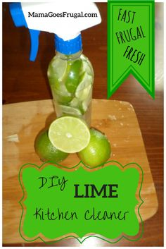 I love the fresh clean smell of limes I am going to whip some of this DIY Lime Cleaner up this weekend!