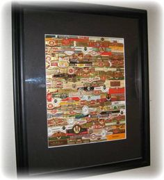Cigar Band Projects | to my bar it really looks cool they are all bands from cigars that ...