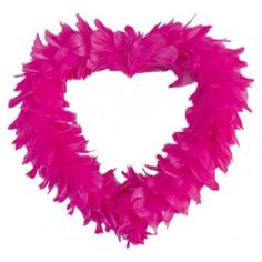 Coeur fuchsia en plumes 38 cm, wedding, pink, fuchsia, baby shower, anniversaire, mariage, baptême