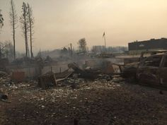 What's left of Alberta Wildrose leader Brian Jean's home in Fort McMurray.