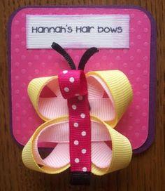 girls a butterfly hair clip