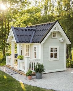 Shocking Playhouse Plan Into Your Existing Backyard Space kids playhouse Shocking Playhouse Plan Into Your Existing Backyard Space Backyard Playhouse, Build A Playhouse, Backyard Sheds, Backyard Playground, Backyard Landscaping, Kids Playhouse Plans, Modern Playhouse, White Farmhouse, Farmhouse Plans