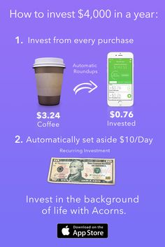 Saving and investing up to $4,000 this year isn't as out of reach as you might think. Try Acorns Today!