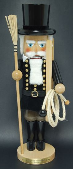 Chimney Sweep Steinbach Nutcracker/ Be sure and put this one out on New Years, suppose to bring good luck.