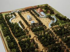 Detail of Model of Vauxhall Gardens as it appeared circa 1751. Scale of 1:150, by Lucy Askew, 1984.