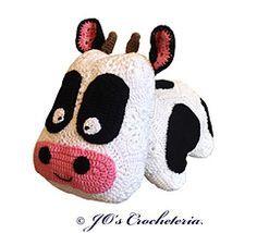 Crochet pattern - Camilla the African Flower Cow by JO's Crocheteria #crochet…