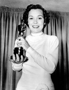 Jane Wyman, accepting Best Actress Award for Johnny Belinda (1948) Academy Awards, Oscars 1949