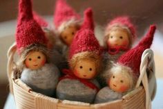 Use with book about the Rainbabies. Waldorf Crafts, Waldorf Toys, Felt Dolls, Doll Toys, Christmas Crafts, Christmas Decorations, Christmas Ornaments, Flower Fairies, Little Doll