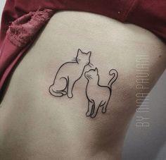 Cat Tattoos - Tattoos - # Cat Tattoos - Cats - Cats tatuagem tatuagem cascavel tatuagem de rosa tatuagem delicada tatuagem e piercing manaus tatuagem feminina tatuagem moto clube tatuagem no joelho tatuagem old school tatuagem piercing tattoo shop Bild Tattoos, Love Tattoos, Body Art Tattoos, Small Tattoos, Cat Tattoos, Tatoos, Hals Tattoo Mann, Tattoo Hals, Piercing Tattoo