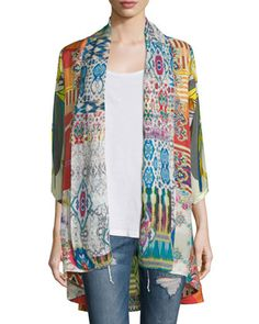Mix-Print+Kimono+Jacket,+Plus+Size+by+Johnny+Was+at+Neiman+Marcus.