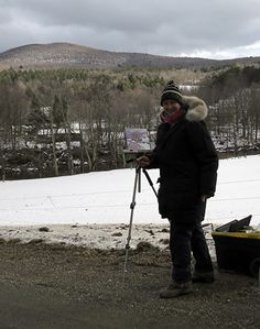 January 15, 2013 Painting In Waterville, Vermont Today! Cold! | Plein Aire in Maine