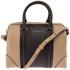 GIVENCHY two-tone tote bag (6.000 BRL) ❤ liked on Polyvore featuring bags, handbags, tote bags, purses, bolsas, givenchy, zip top leather tote, zip top tote bag, leather handbags and leather hand bags