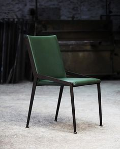 The Berlin - designed and created by Tom in his London studio. Finished here in bottle green leather with hand-painted steel.⠀ ⠀ #tomfaulkner #tomfaulknerfurniture #interiors #interiordesign #decor #furniture #productdesign #design #contemporary #luxury #steel #home #interior #furnituredesign #style #homedesign #modern #metal #chair #metalfurniture #berlinchair #chairdesign