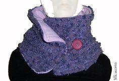 Schals - Kragen / Schal, lila Punktestruktur - ein Designerstück von…