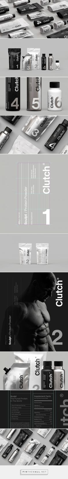 Clutch Bodyshop Fitness and Nutrition Branding and Packaging by SocioDesign Design Logo, Label Design, Box Design, Design Agency, Identity Design, Typography Design, Package Design, Graphic Design, Branding And Packaging