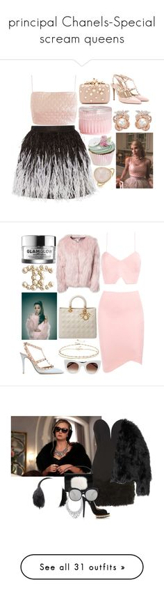 """""""principal Chanels-Special scream queens"""" by soravolley ❤ liked on Polyvore featuring Elie Saab, Anabela Chan, Lashes of London, H&M, Bling Jewelry, Chanel, Alice + Olivia, Valentino, Estradeur and Christian Dior"""