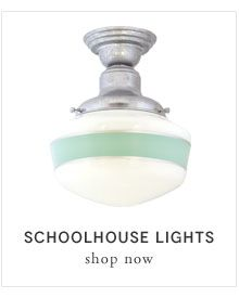 Schoolhouse Lights from barn light electric