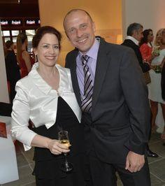 """Michael Hufnagl (""""Paaradox""""-Kolumnist) und Nicole Kolisch (Online-CvD) beim 25-Jahre-Freizeit-Fest (Foto: KURIER/Jeff Mangione)"""