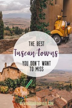 """Find the best Tuscan villages to visit from Rome in a day. Tuscany is known for its rolling hills, its vibrant cultural cities, its picturesque hilltop towns, and for the food and wine that people flock here fo"" Italy Destinations, Holiday Destinations, Rome In A Day, Italy Travel Tips, Travel Europe, Travel Plane, Rome Travel, Croatia Travel, Travel Goals"