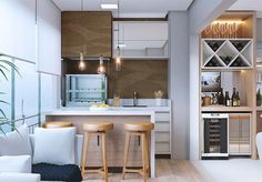 Modern galley kitchen designs to inspire your kitchen remodel. Find layout ideas for a narrow kitchen, plus inspiration for larger open plan galley kitchens. Small Galley Kitchens, Galley Kitchen Design, Galley Kitchen Remodel, Kitchen Cabinet Design, Cool Kitchens, Kitchen Decor, Kitchen Dining, Dining Room, Long Narrow Kitchen